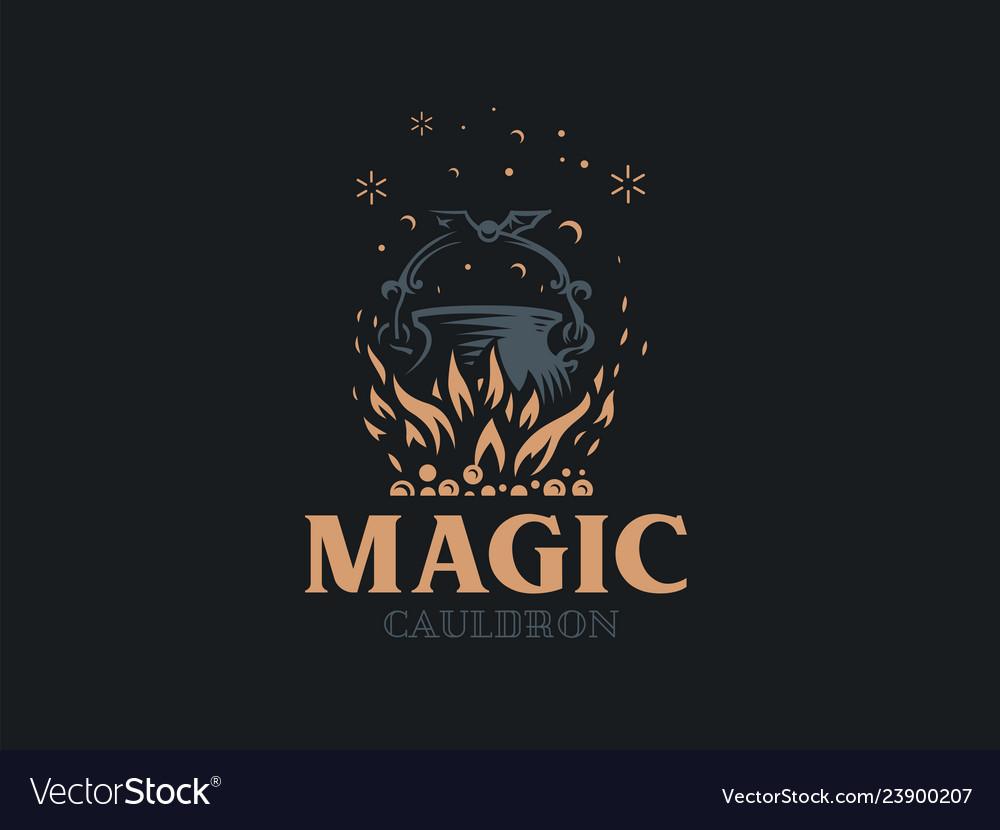 Magic cauldron a magical potion