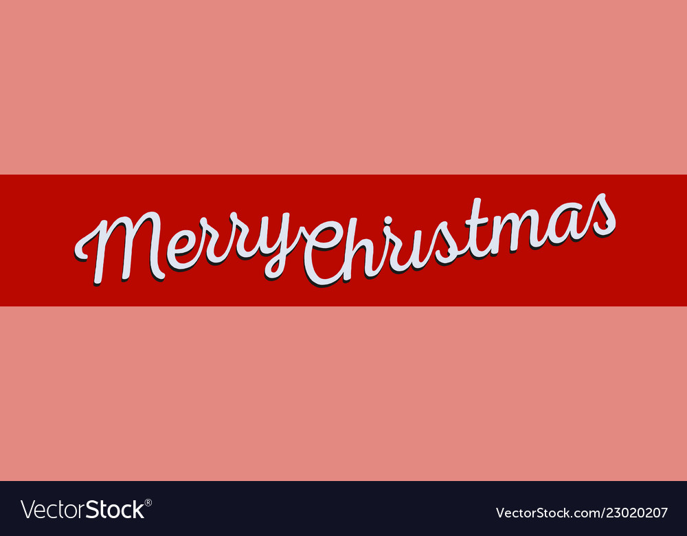 Merry christmas greeting banner white lettering