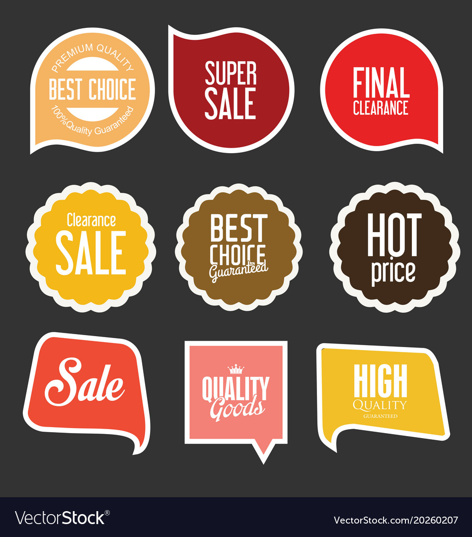 Modern sale stickers and tags collection 7 vector image