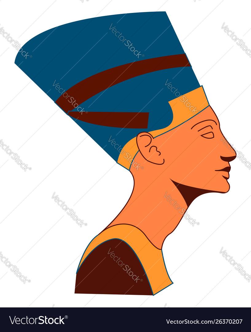 Nefertiti on white background