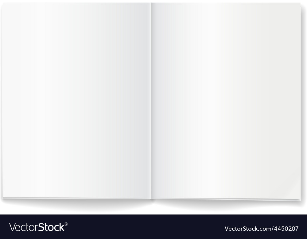 Open blank magazine double-page spread vector image
