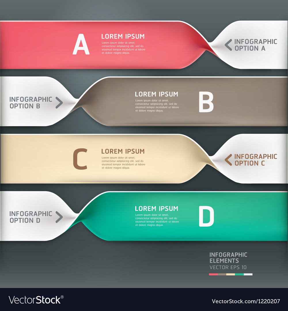 Spiral infographics options banner