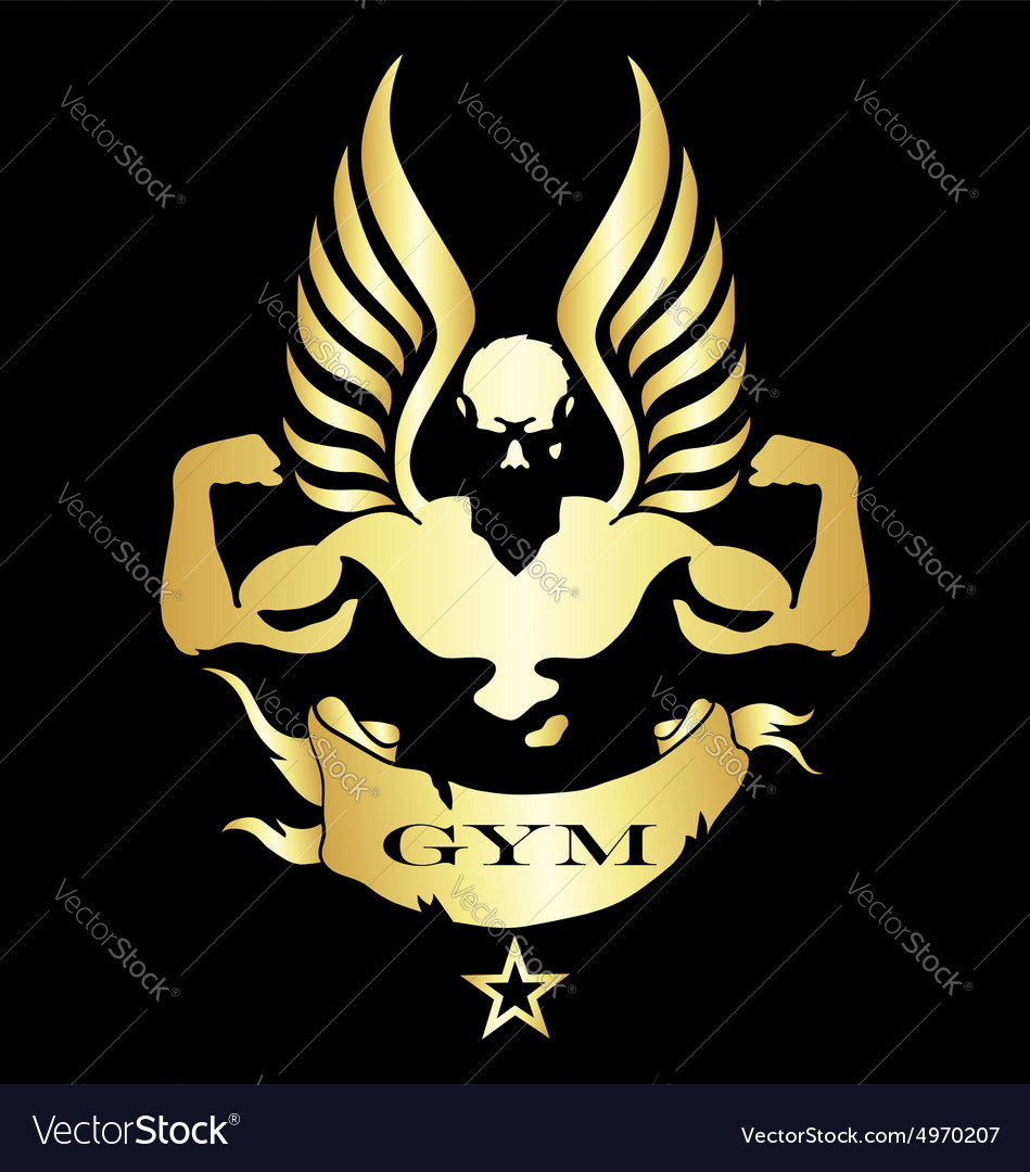 Symbol For Gym And Fitness Royalty Free Vector Image