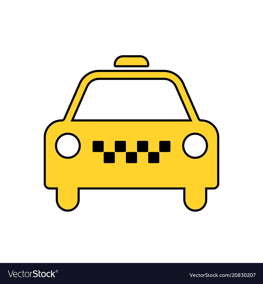 taxi icon taxi icon taxi royalty free vector image