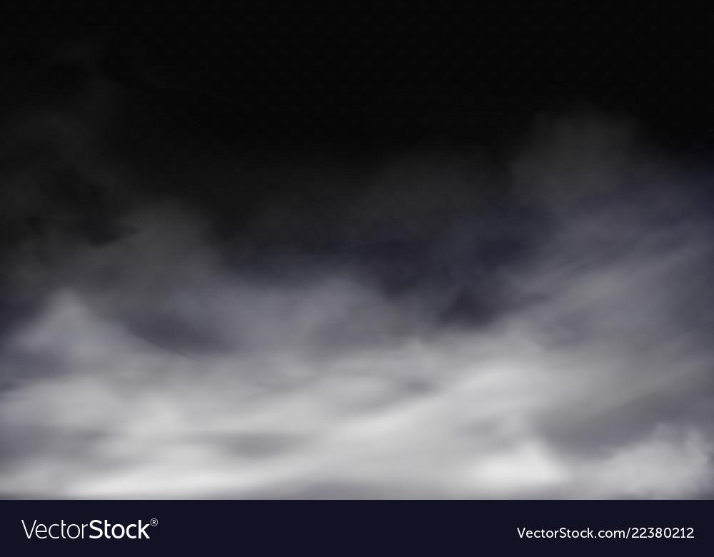 3d realistic transparent fog grey mist