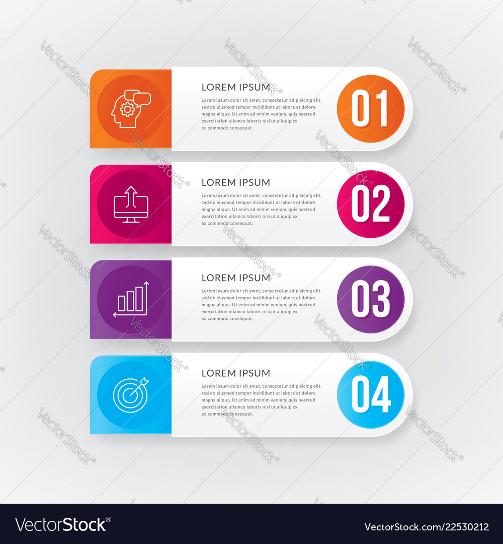 Banner steps business infographic template