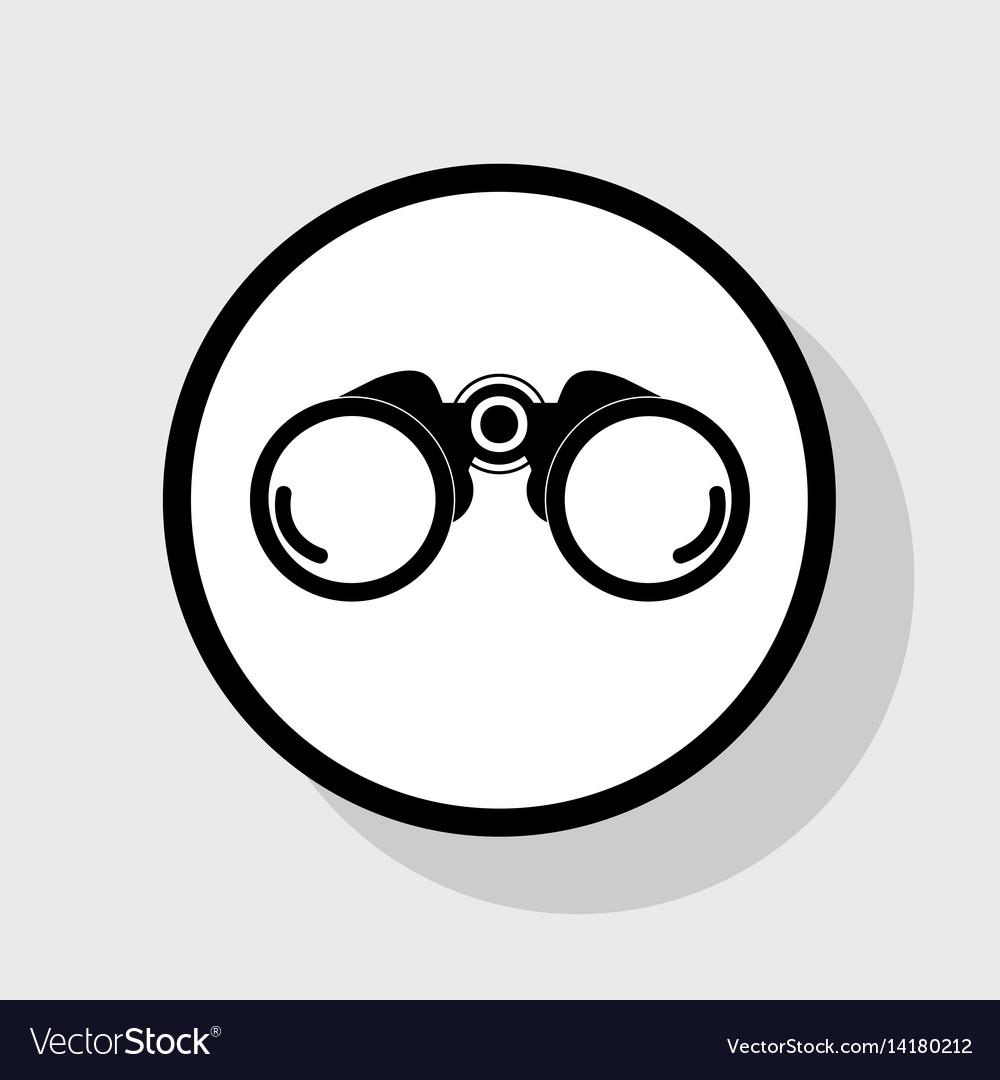 Binocular sign flat black vector image