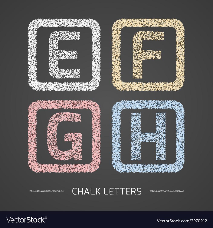 Chalk letters set