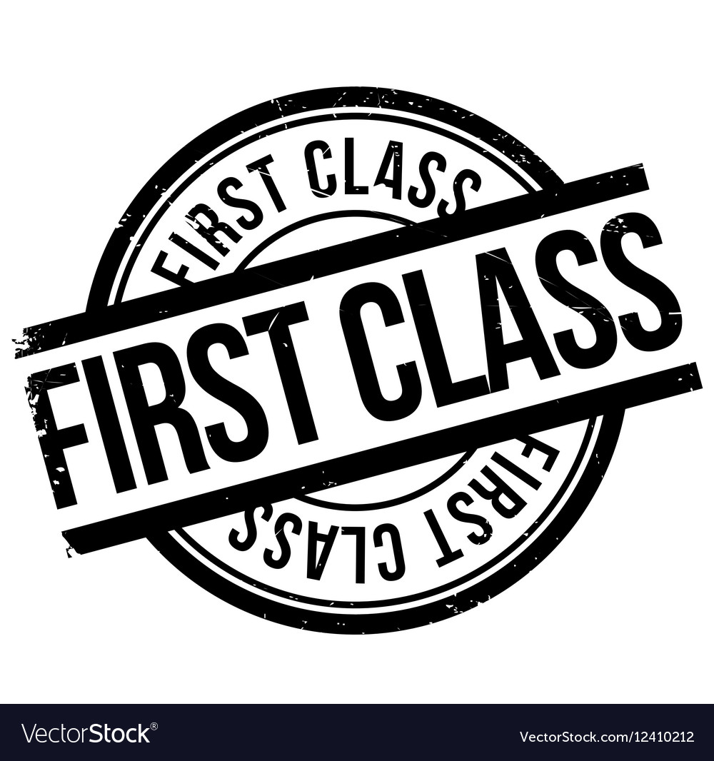 First Class Stamp Royalty Free Vector Image Vectorstock