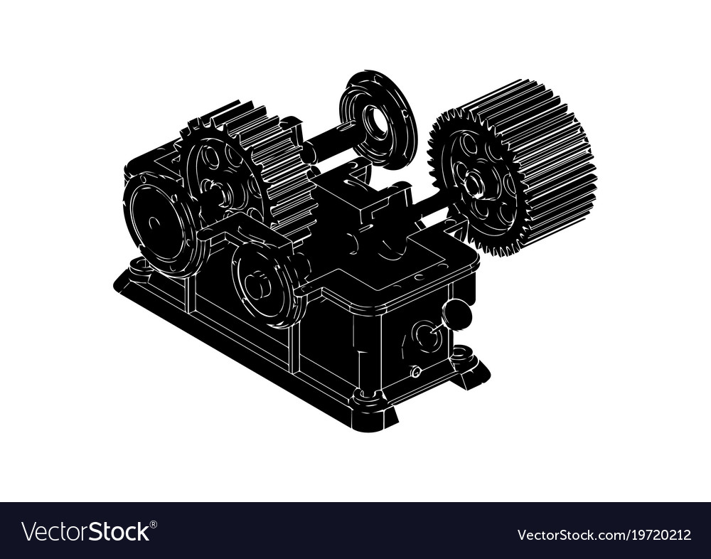 Gear mechanism vector image