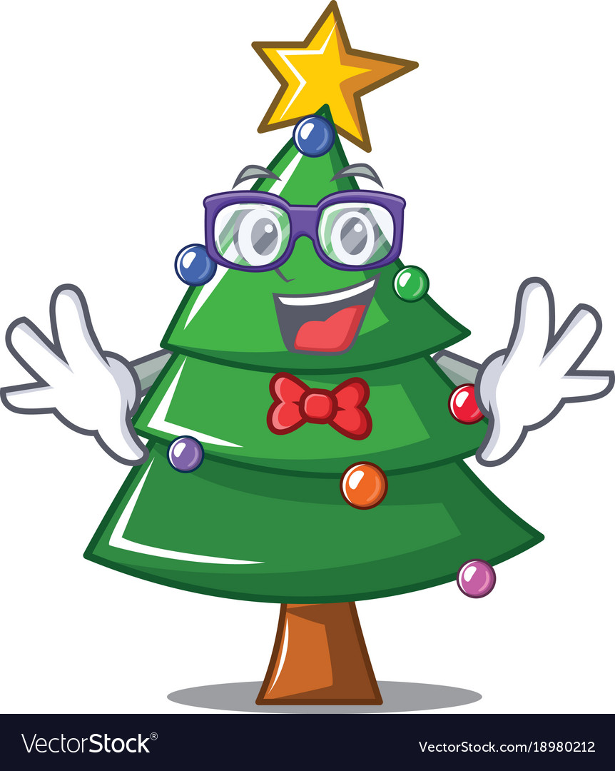 Geek Christmas.Geek Christmas Tree Character Cartoon