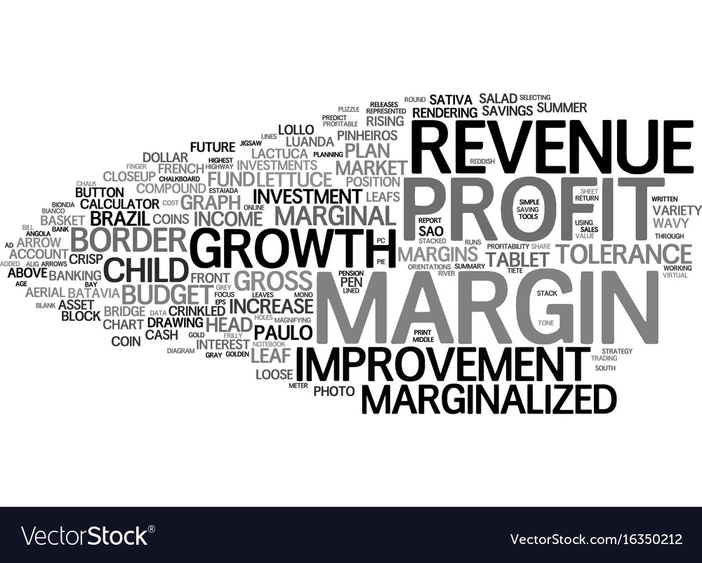 Margin word cloud concept