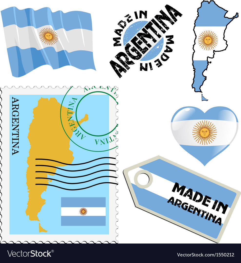 National Colours Of Argentina Royalty Free Vector Image