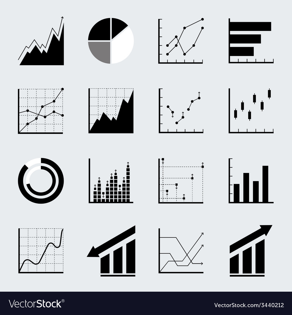 Set infographic icons vector
