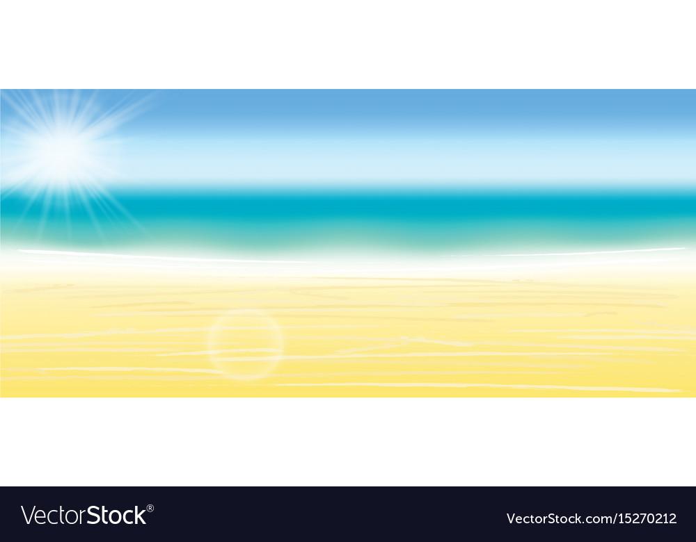 Summer beach background blurred