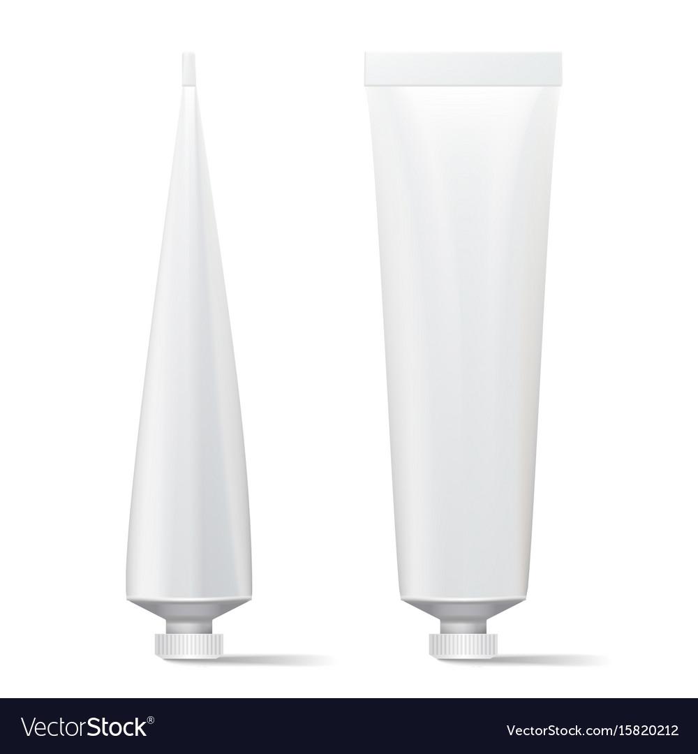 Tube mock up clean template blank plastic