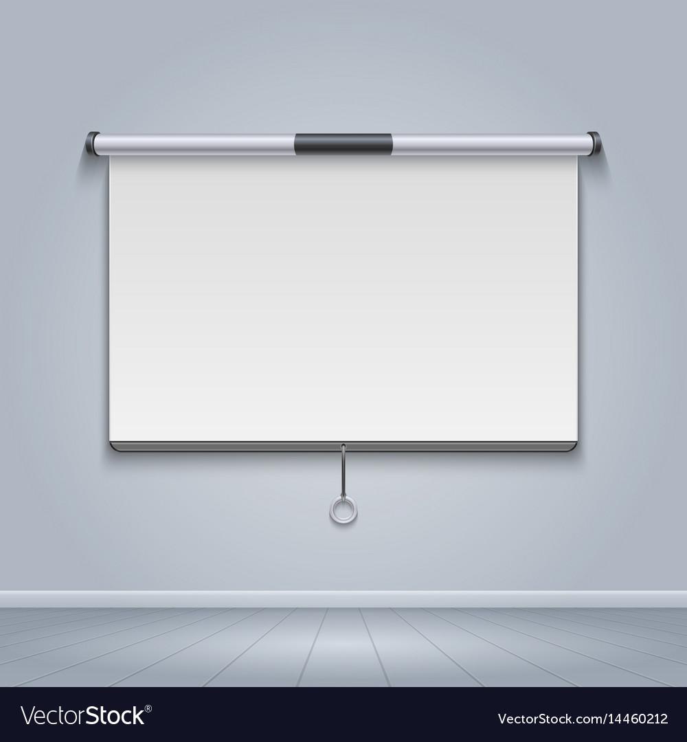 White board meeting screen movie billboard
