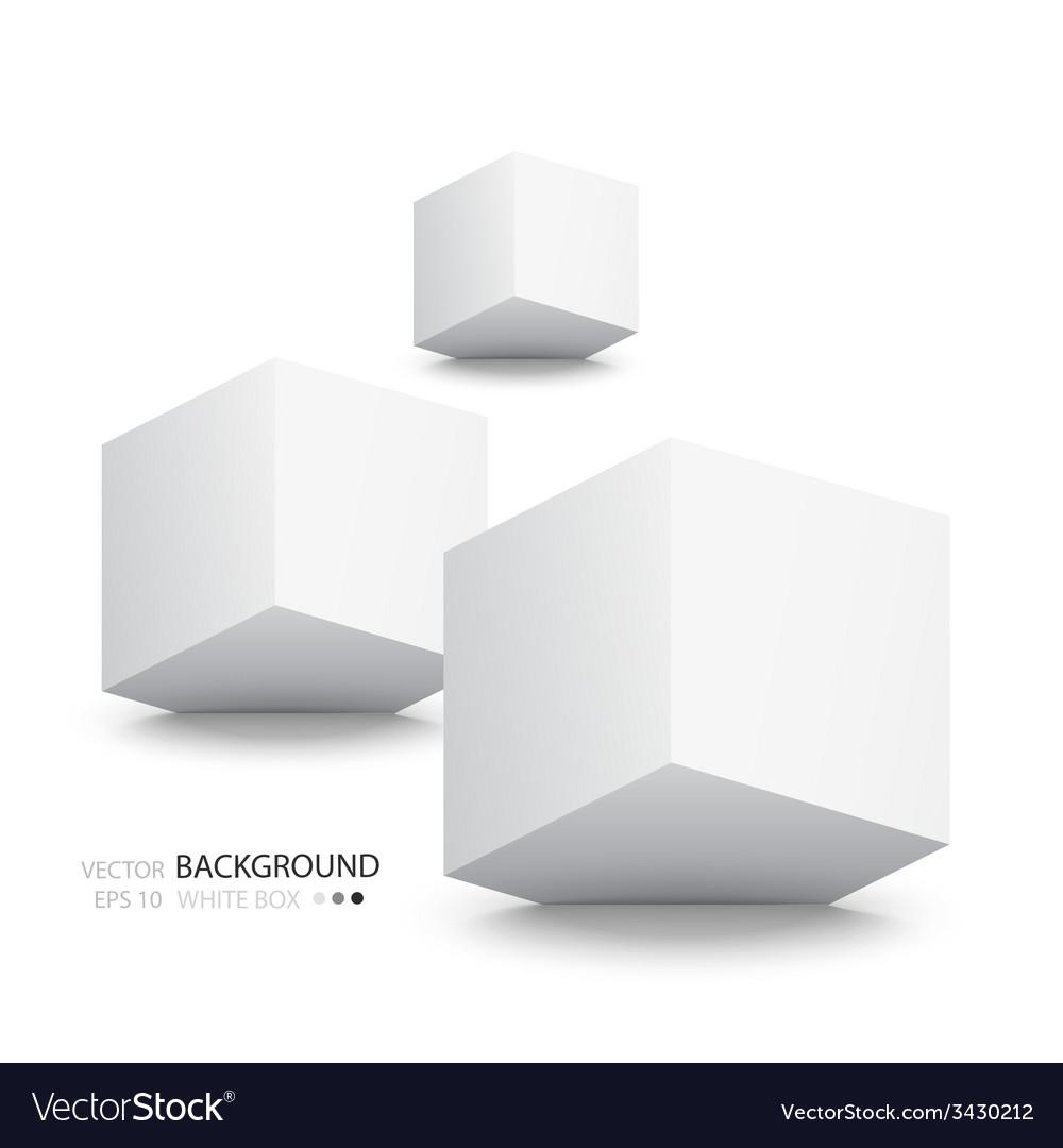 White cubes isolated on white background