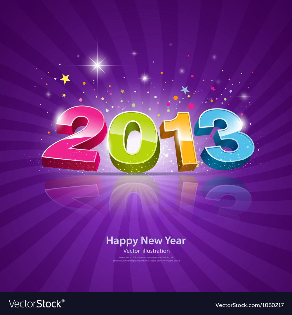 2013 Message colorful background vector image