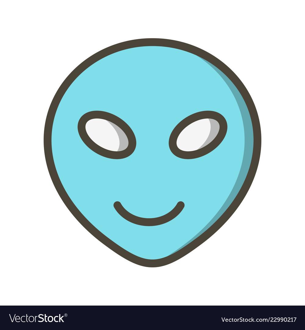 Alien Emoji Icon Royalty Free Vector Image Vectorstock