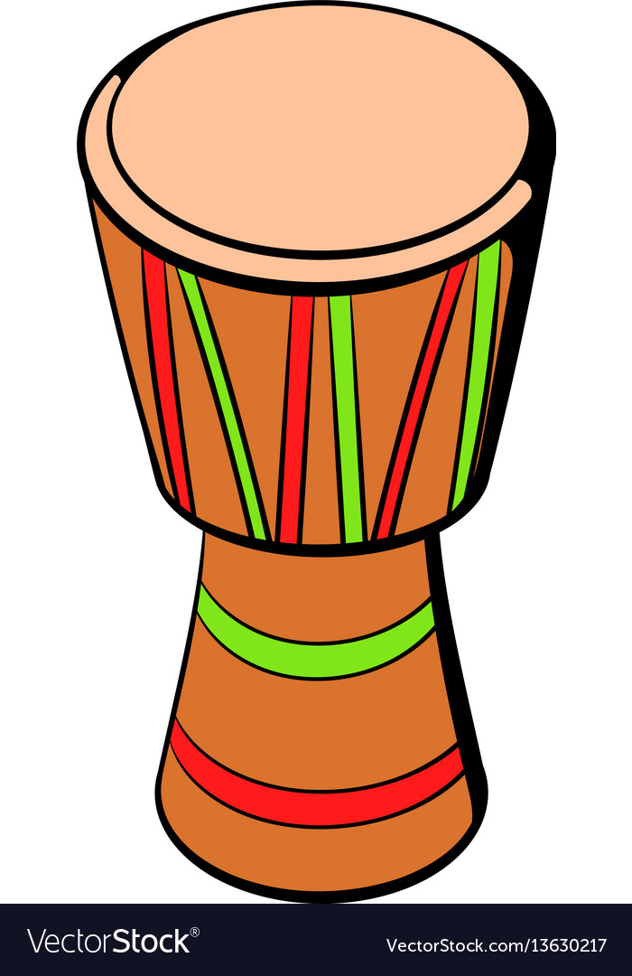 Australian ethnic drum icon cartoon