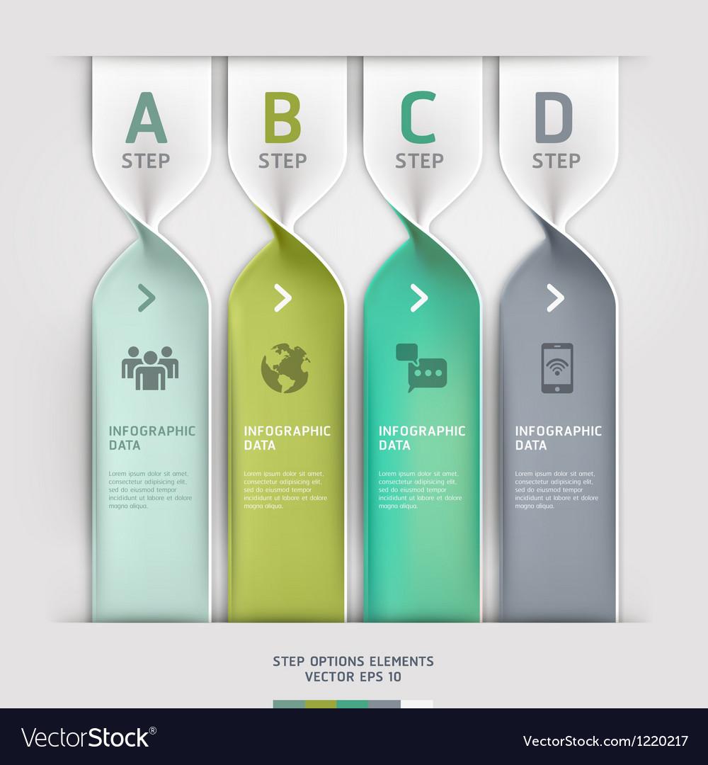 Communication technology spiral options banner vector image