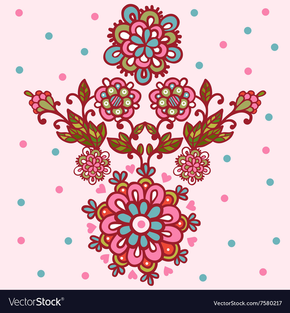 Flower design isolated elements