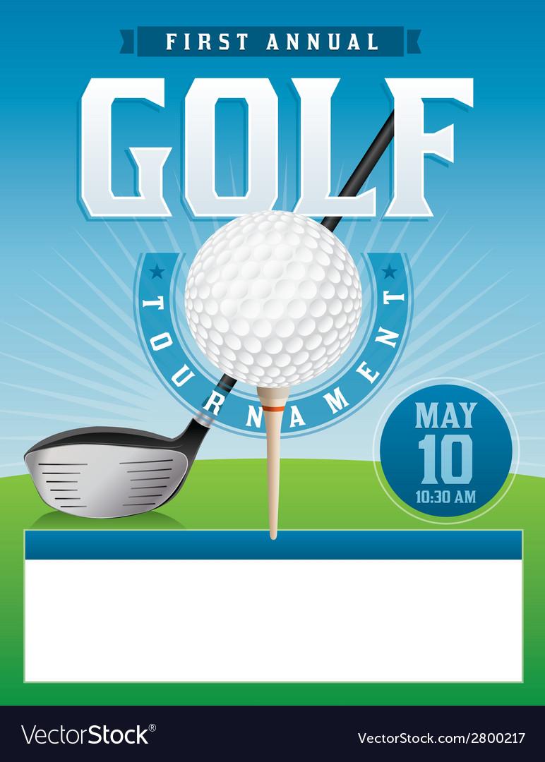 golf tournament flyer template word