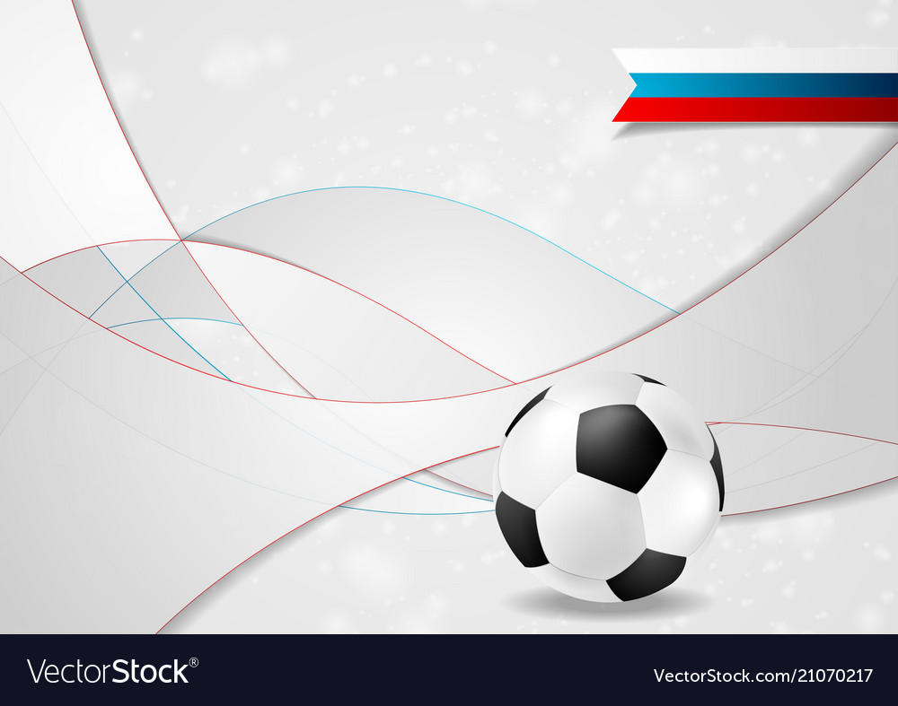 Grey football wavy background with soccer ball