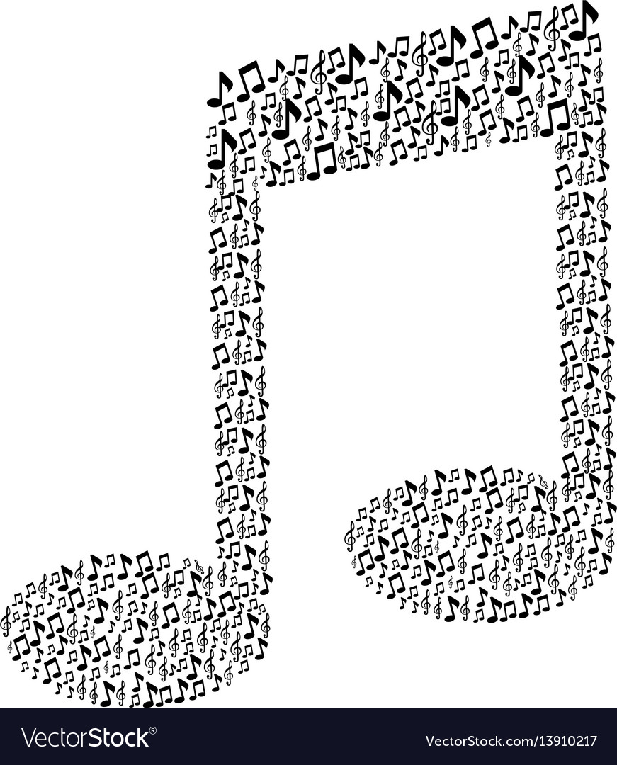 Pattern in shape music sing with musical notes
