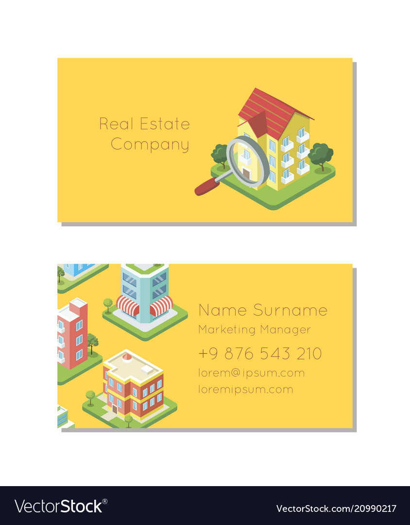 Real estate company business card template
