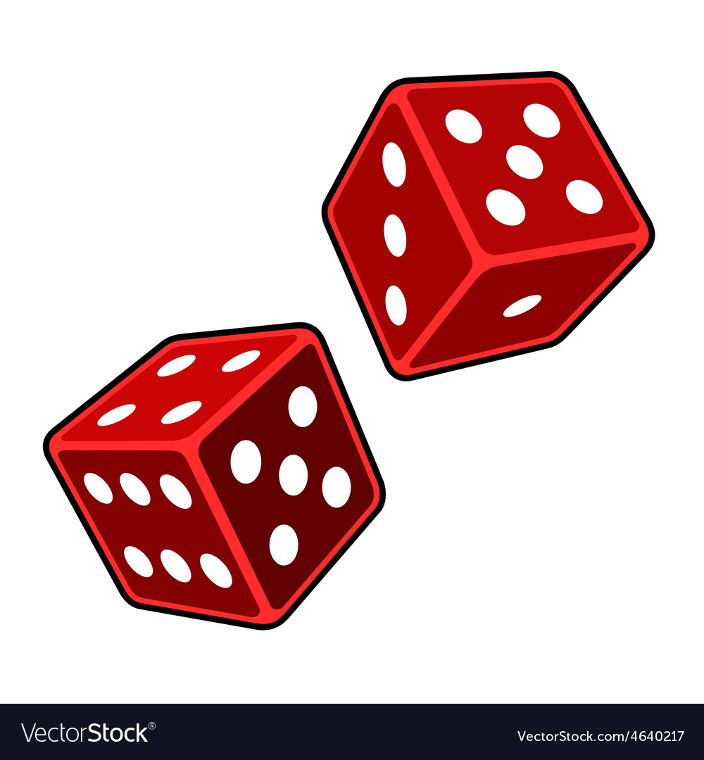 red dice cubes on white background royalty free vector image rh vectorstock com dice vector free download dice vector eps