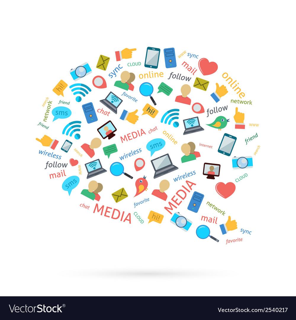 Social Talk Bubble vector image