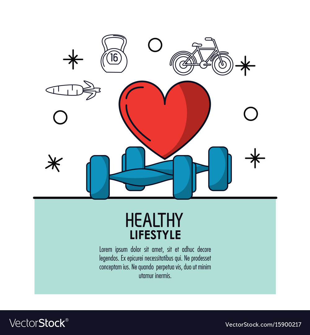 White background decorated of poster healthy