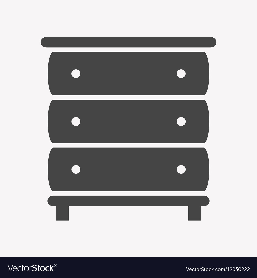 Cupboard icon Trendy Simple