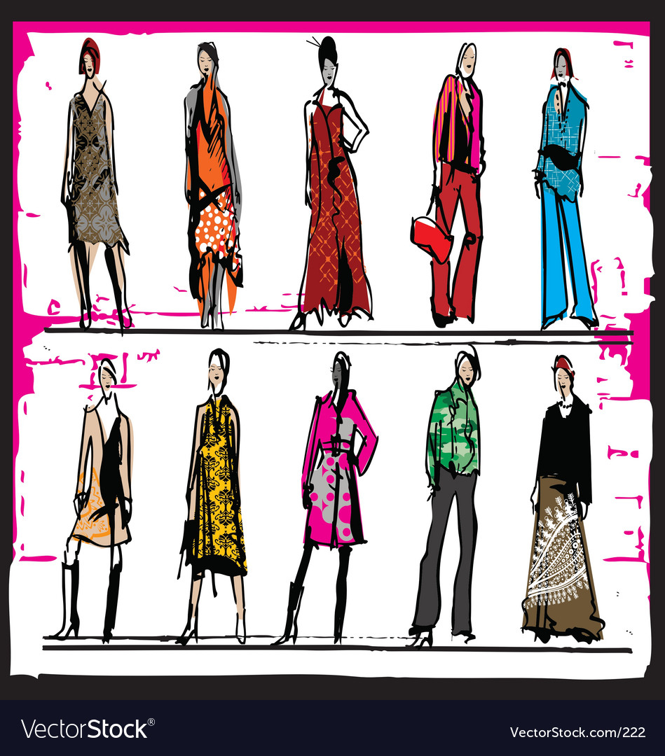 Fashion Illustration Royalty Free Vector Image