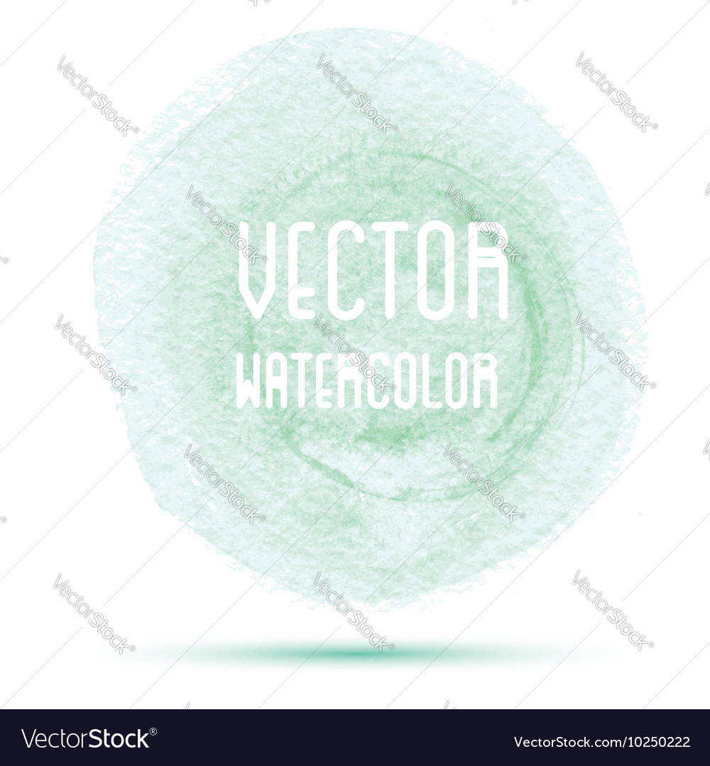 Green watercolor stain isolated on white