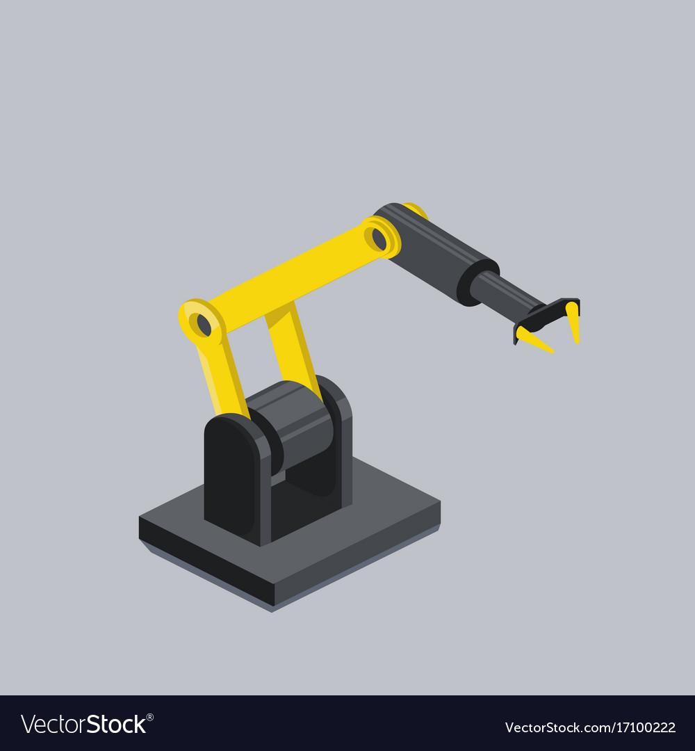 Industrial robot arm isometric