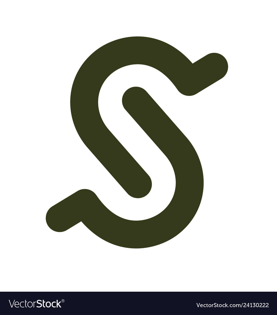 Initial letter s design template
