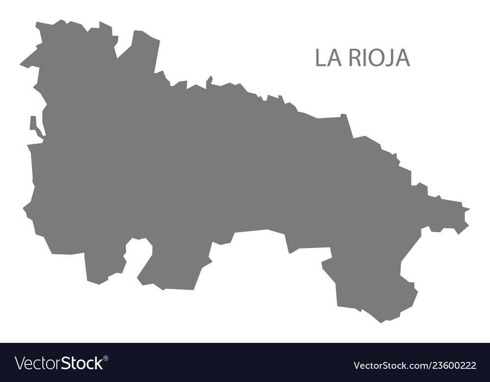 Map Of Spain Rioja.La Rioja Spain Map Grey Royalty Free Vector Image