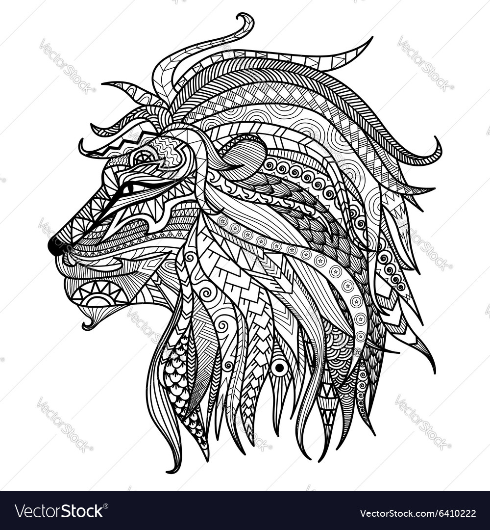 Lion coloring book Royalty Free Vector Image - VectorStock