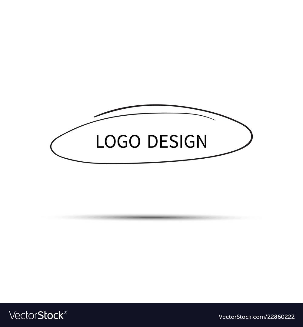 Logo design hand drawn circle doodle