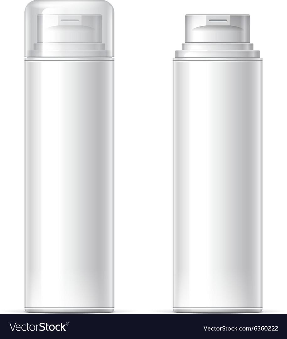 Mock up Shaving gel foam light gray vector image