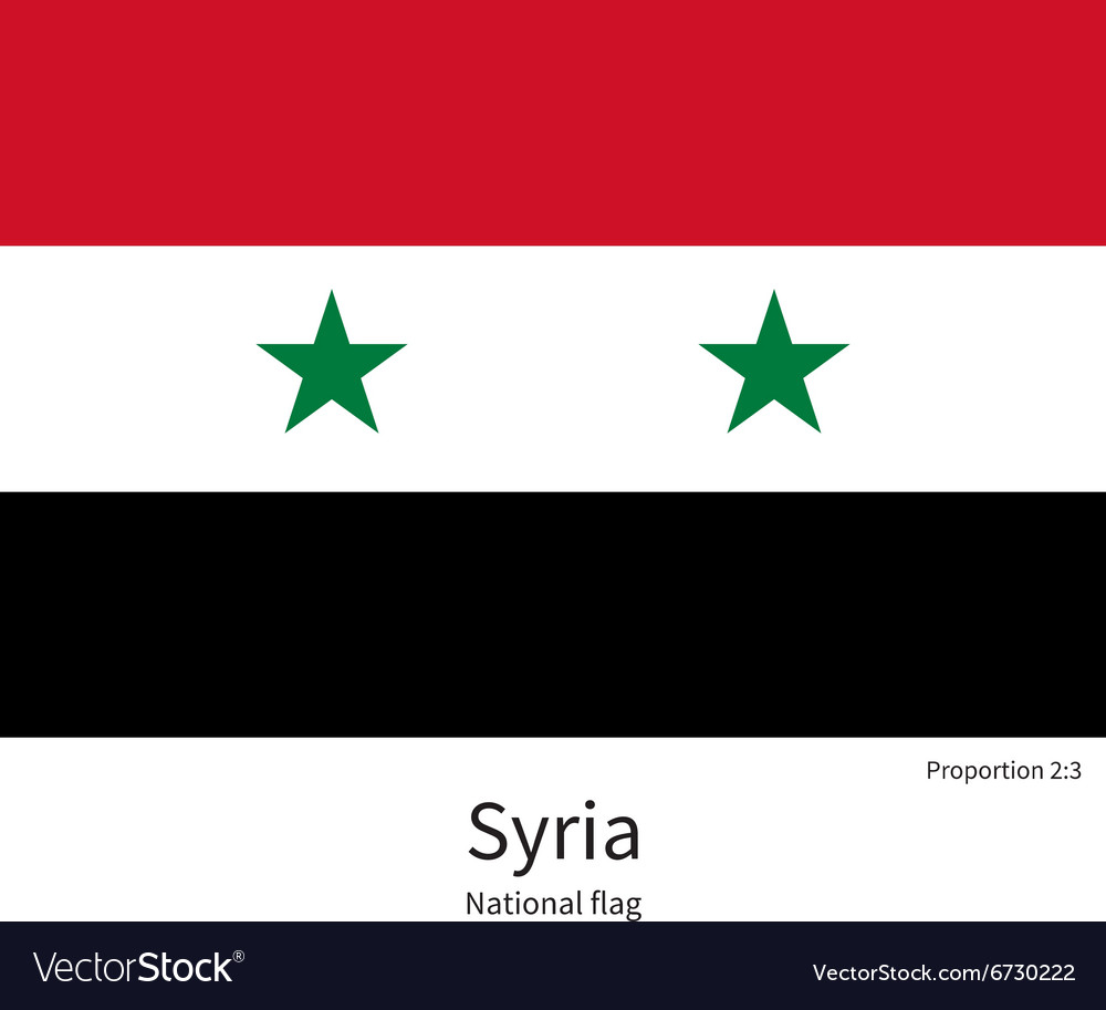 National flag of Syria with correct proportions