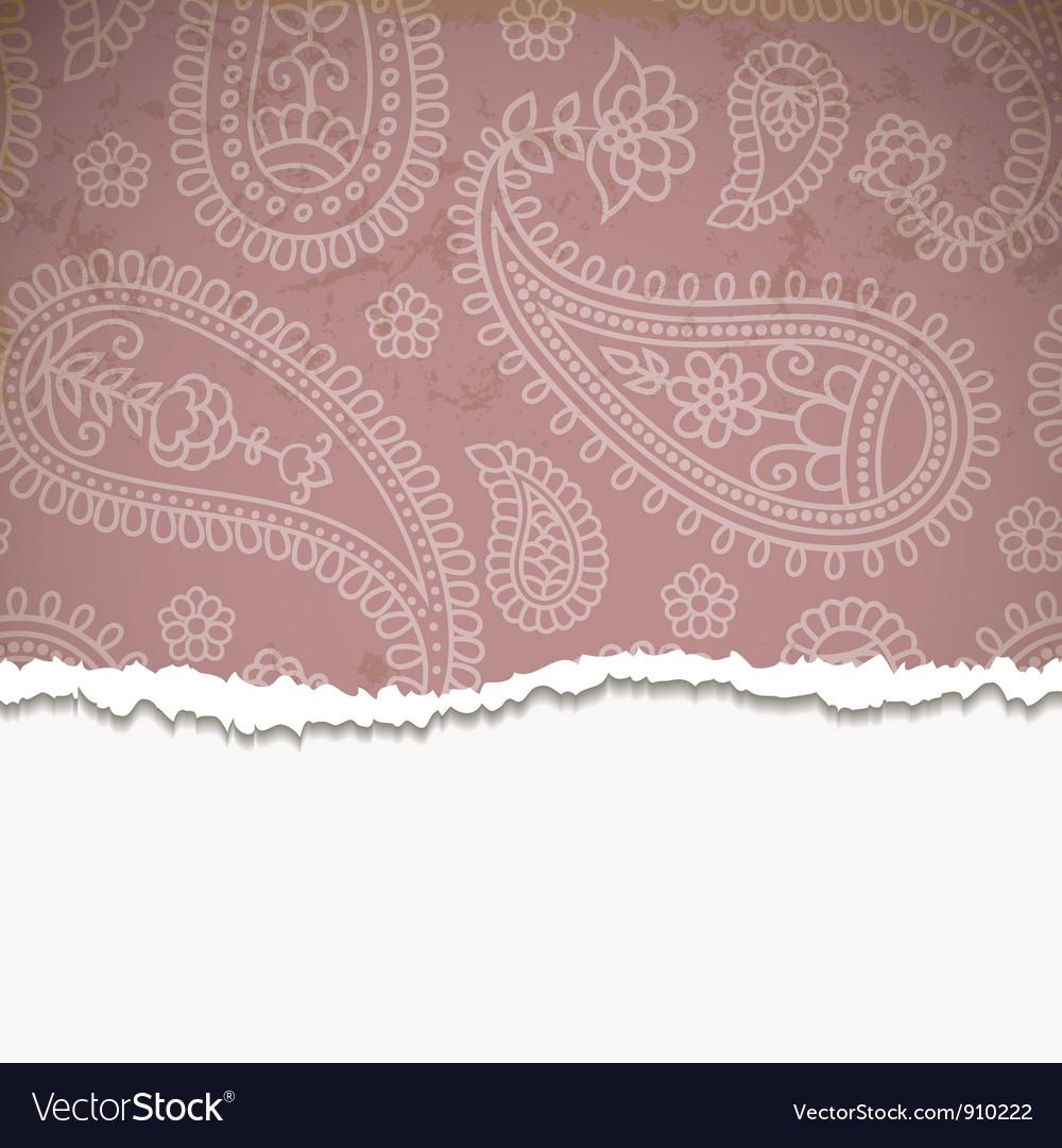 Pink paisley frame