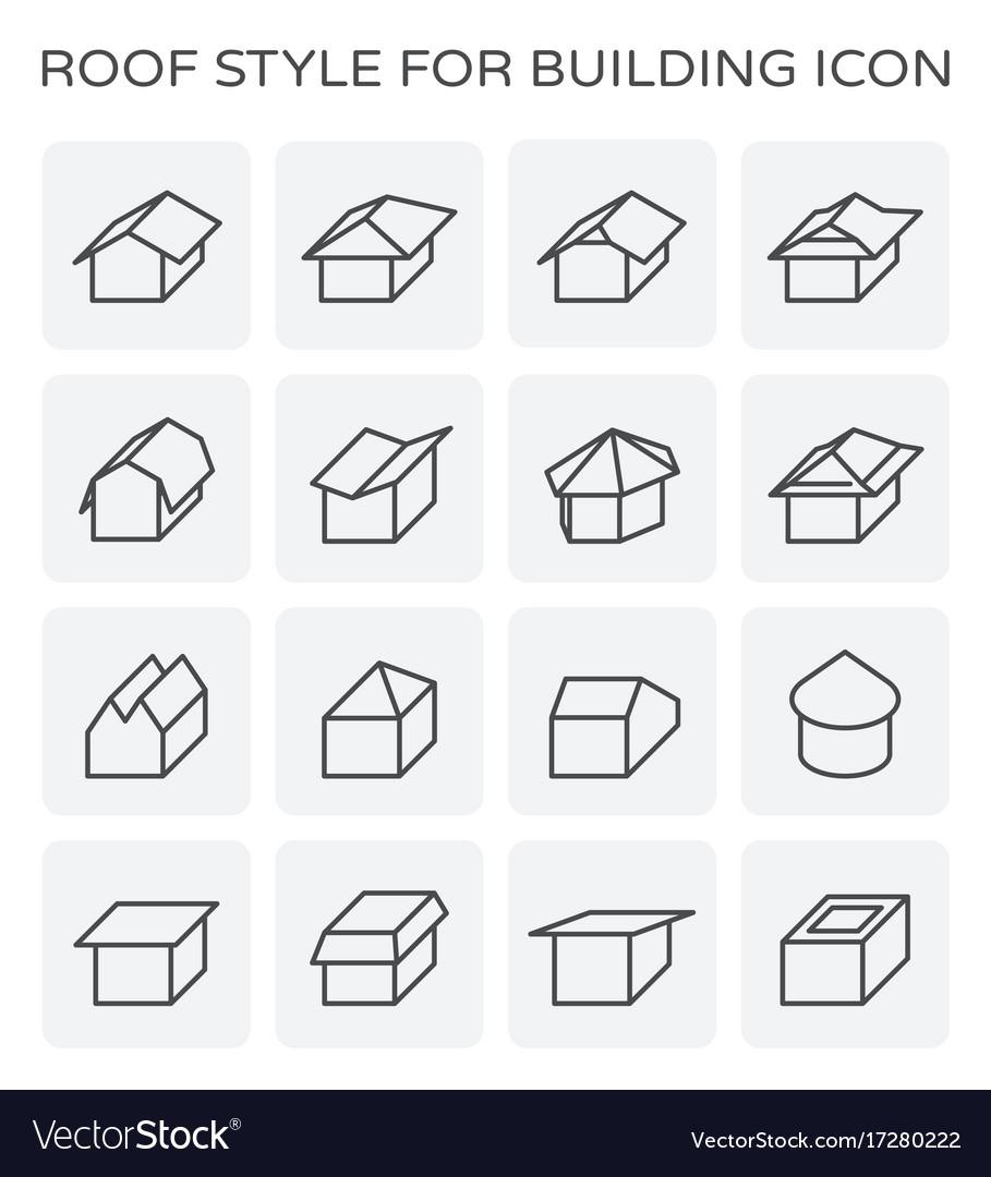 Roof type icon