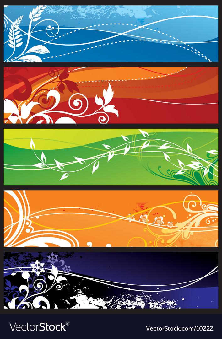 Seasons background vector image