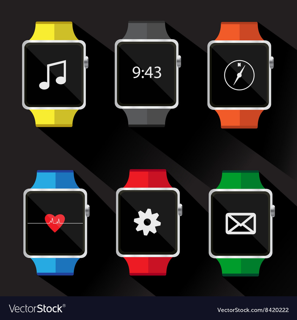 Set of smart watch icon