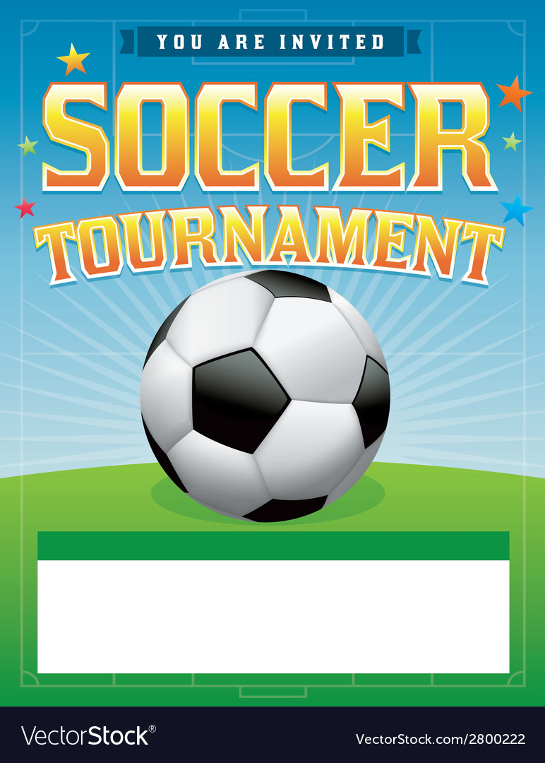 Soccer Tournament Flyer Royalty Free Vector Image