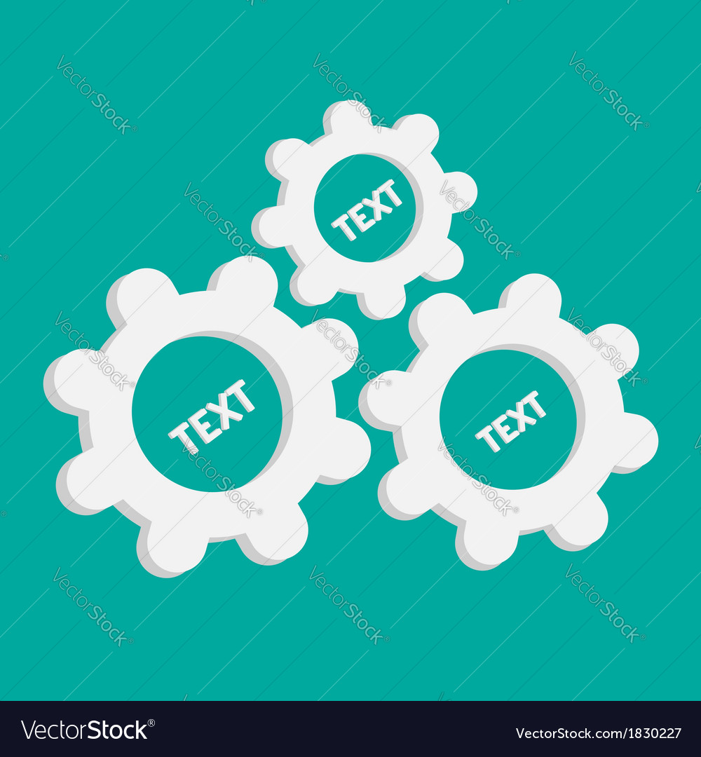 Abstract gear and cog wheels Template Flat design vector image